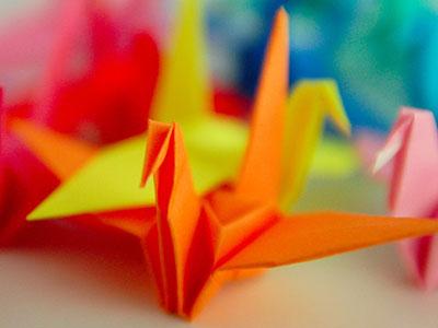 Ptaszki origami. Obrazek wyróżniający artykuł